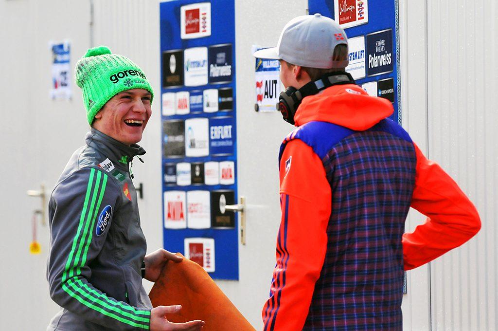 Skispringer in der Vorbereitung