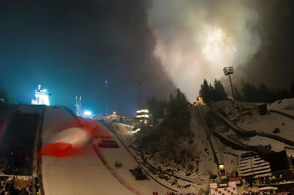 Feuerwerk in Oberstdorf