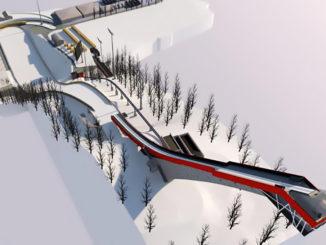 Animation Skiflugschanze Oberstdorf
