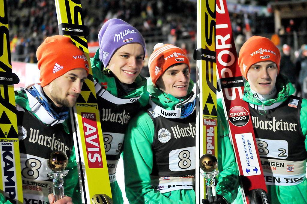 Eisenbichler, Wellinger, Freitag, Leyhe
