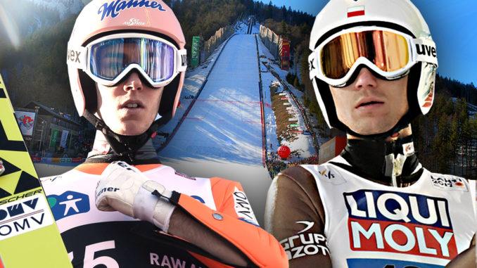 Skispringer Wellinger und Eisenbichler auf dem Podium