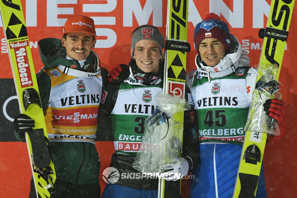 Richard Freitag, Anders Fannemel, Kamil Stoch