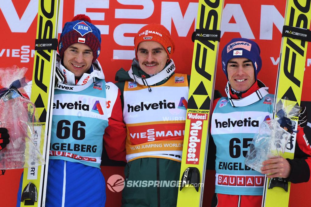Kamil Stoch, Richard Freitag, Stefan Kraft