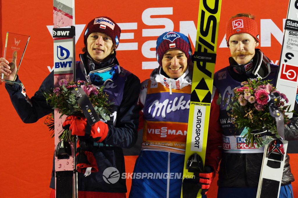 Dawid Kubacki, Kamil Stoch, Robert Johansson