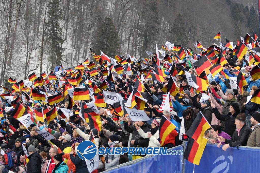 Zuschauer in Oberstdorf