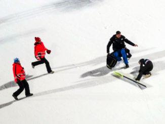 Skispringen Sturz